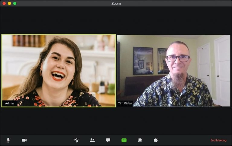 Zoom Meeting with Tim Biden and client
