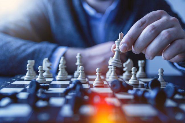 Web Design Action Plan - Man playing chess